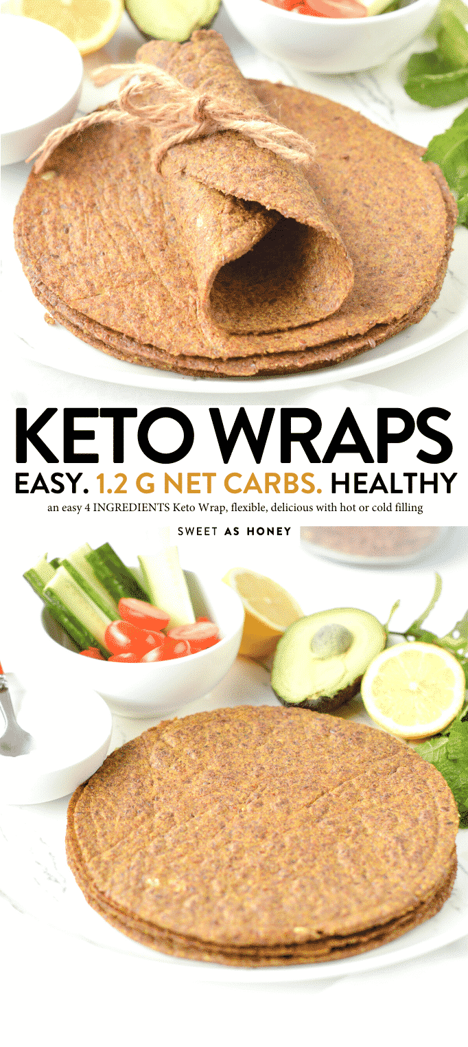 KETO FLAXSEED WRAPS - 4 ingredients easy flexible wraps ready in 10 minutes ! #KETO #KETOWRAPS #KETORECIPES #KETOMEALS #KETOTORTILLAS #TORTILLAS #GLUTENFREE #KETOVEGAN #lowcarb #keto #wraps #tortillas #vegan