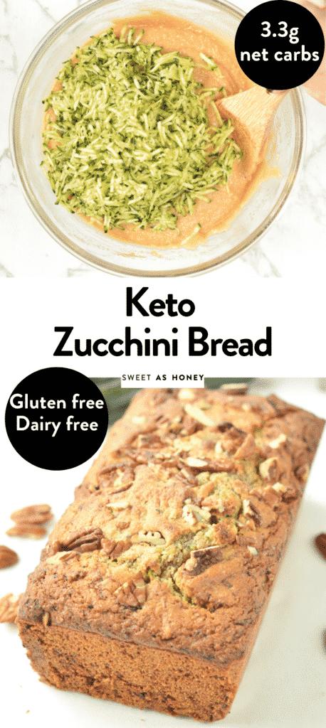 Keto zucchini bread with almond flour