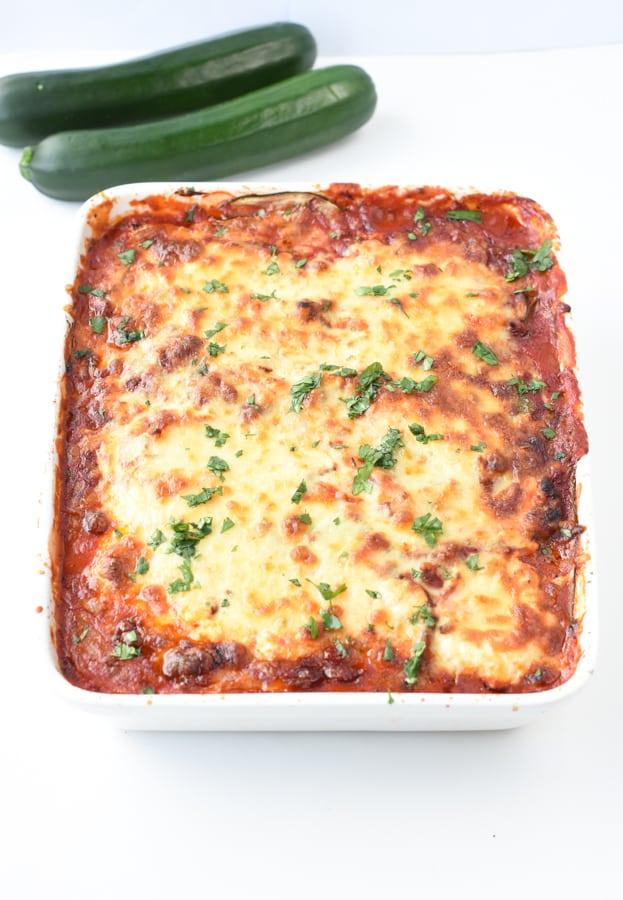 Keto zucchini lasagna gluten free