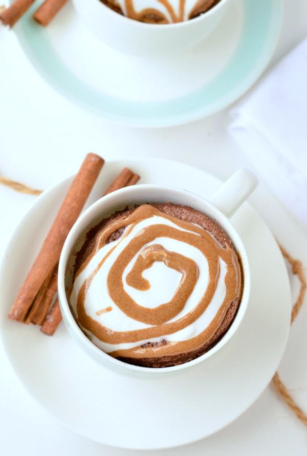 almond flour mug cake with Cinnamon