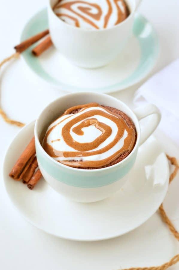 Low Carb Cinnamon Mug Cake Keto