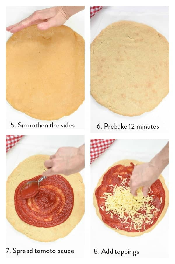 How to make almond flour pizza crust ?