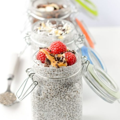 Low carb chia seed pudding almond milk