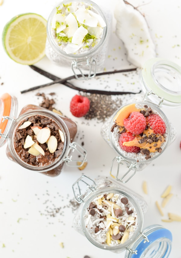 Low carb chia seed puddings