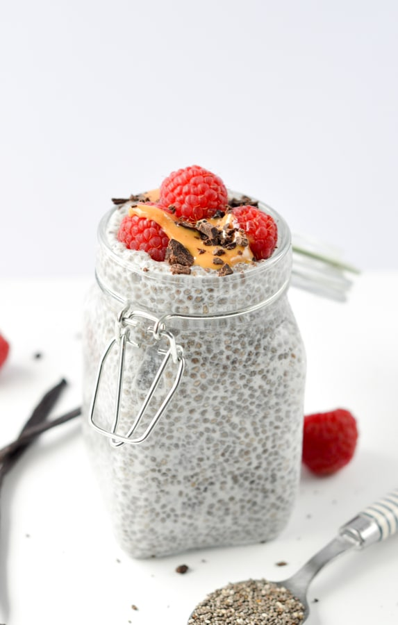 Chia seed pudding almond milk