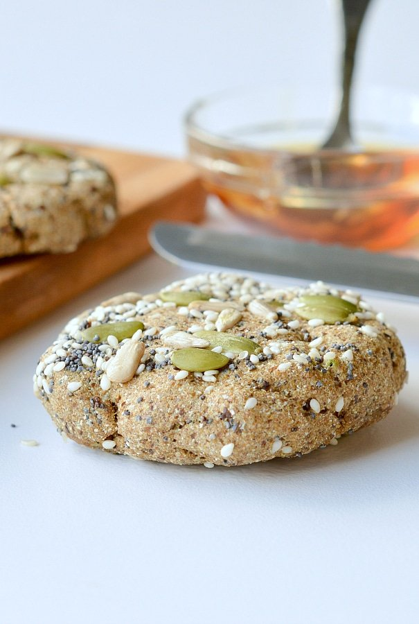 Microwave keto bread flaxseed