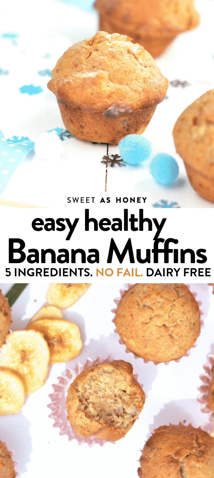 easy healthy banana muffins