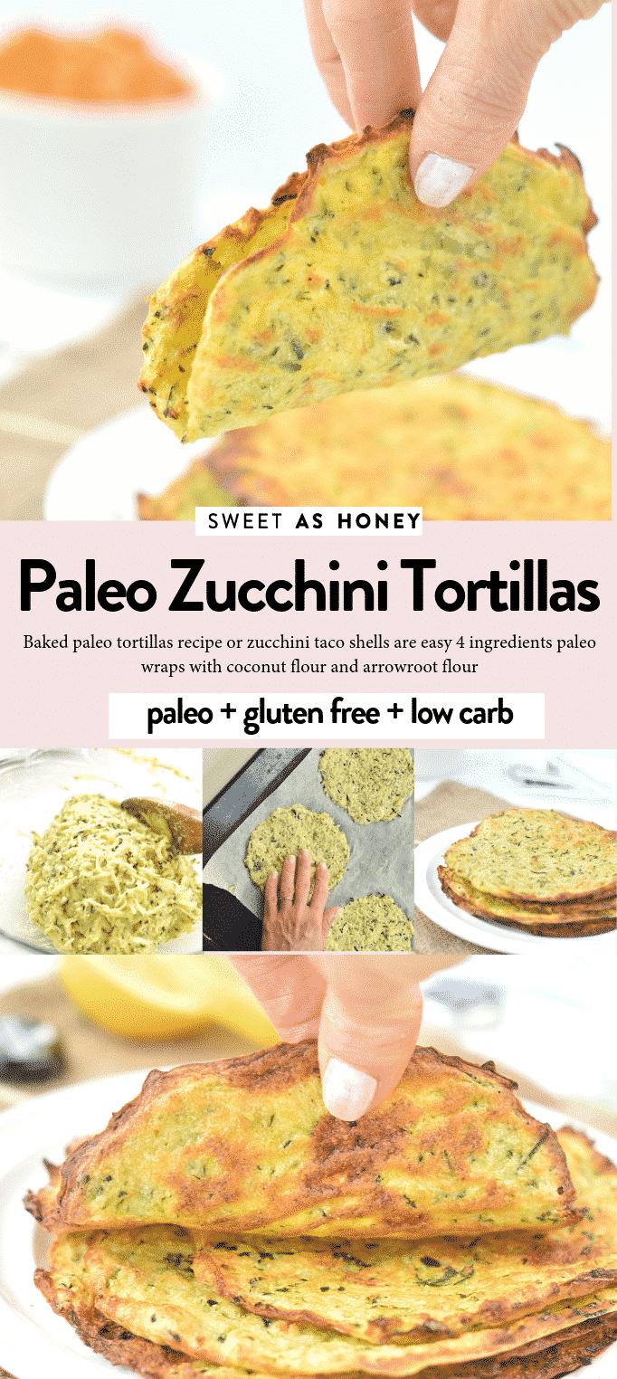 Paleo Zucchini tortillas recipe zucchini tacos