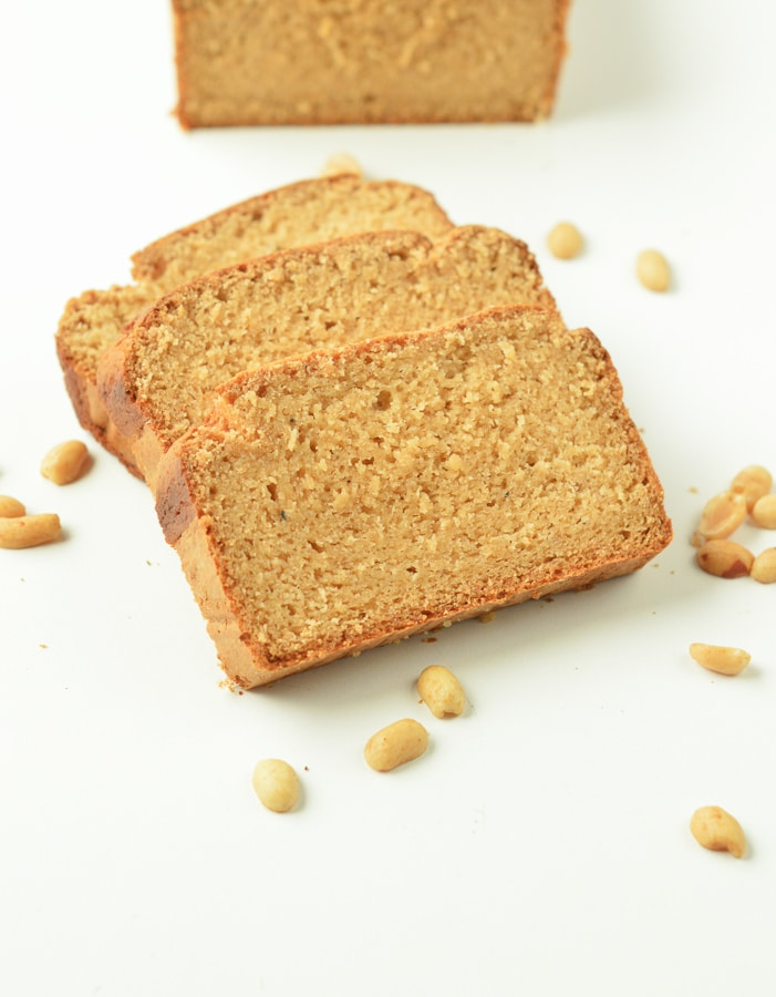 KETO PEANUT BUTTER BREAD is an healthy moist keto bread with only 5 grams net carb per slice. #peanutbutterbread #ketobread #keot #moist #easy #healthy #peanutbutter #bread #lowcarb #glutenfree #simple #ketorecipes #ketobreakfast #lowcarbbread #ketones #ketolifestyle #ketofood