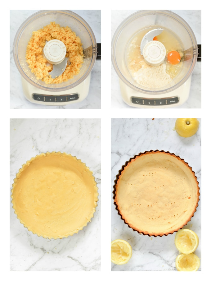 Coconut flour pie crust - an easy 4 ingredients low carb, keto and paleo shrotbread crust perfect for pumpkin pie or quiche.