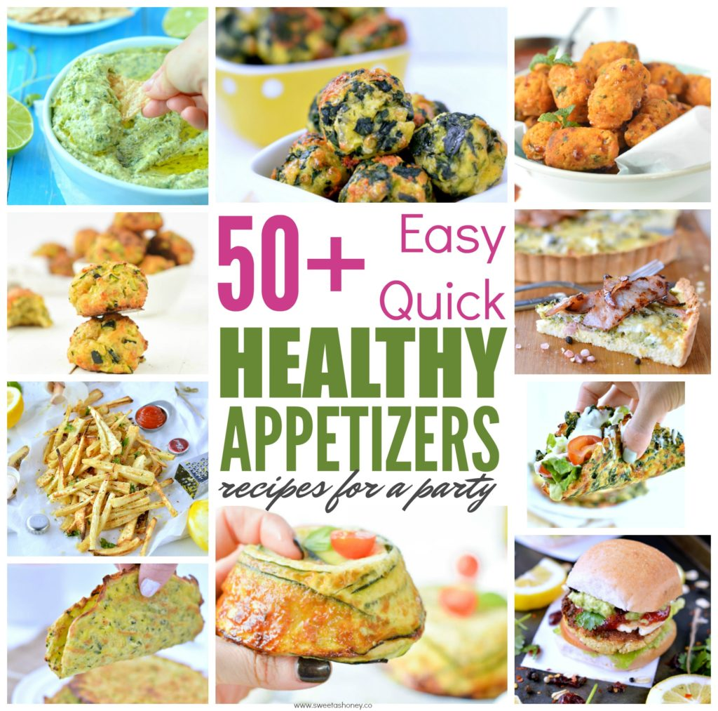 Easy Healthy Appetizers recipes - quick finger foods for a party, for a crowd or holidays