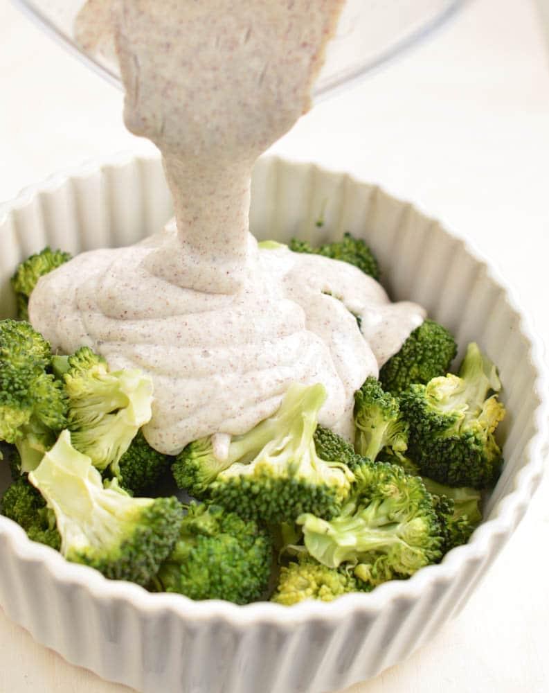 Broccoli Quinoa Casserole with Gluten free Quinoa white sauce