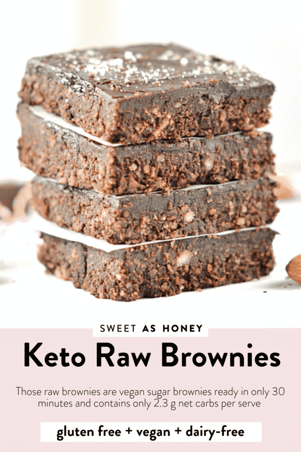 Vegan Keto Raw Brownies
