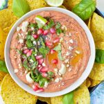 This Easy Roasted Red Pepper Bean Dip Recipe is an Healthy Dip alternative to hummus recipes. Ready in 10 minutes, packed with protein from red kidney beans and nut butter. A great vegan appetizer to dip mexican corn chips or a lovely vegan spread for sandwiches.