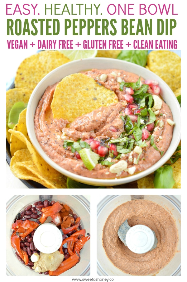Roasted red pepper bean dip