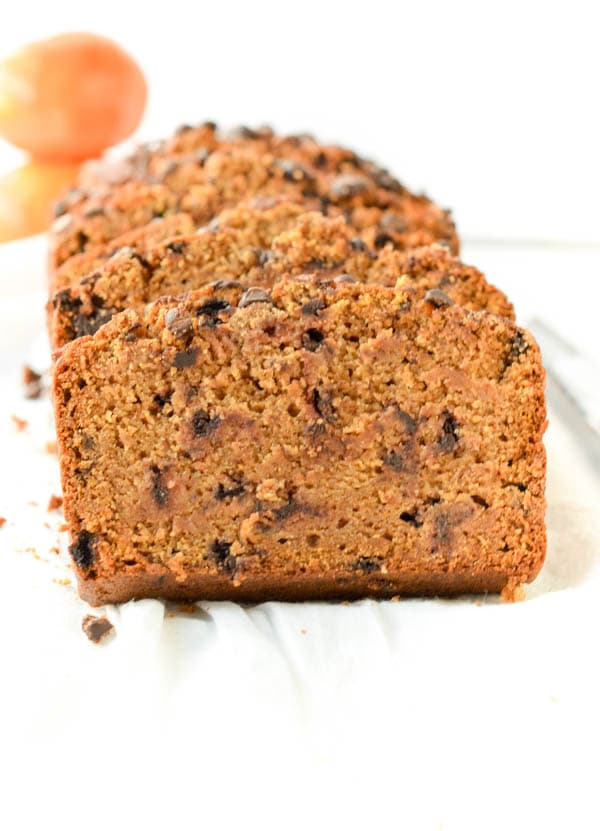 Vegan Pumpkin Bread recipe with flax meal, almond milk, coconut sugar and 100% gluten free. You'll love this Moist and Healthy pumpkin bread with no egg. A delicious clean eating recipe for breakfast. Spice up your morning with this easy and healthy fall recipe! You won't regret it.