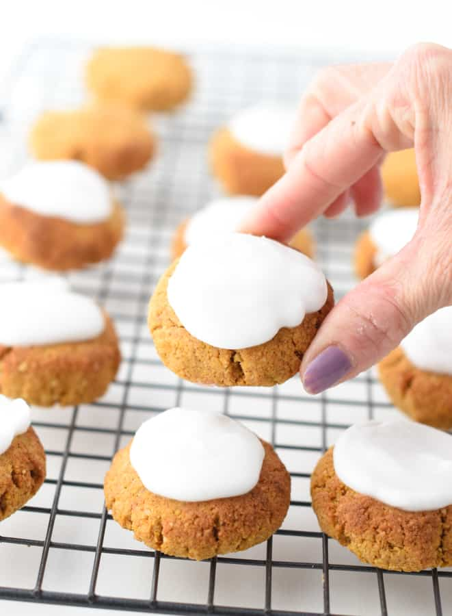 Soft Keto Pumpkin Spice cookies