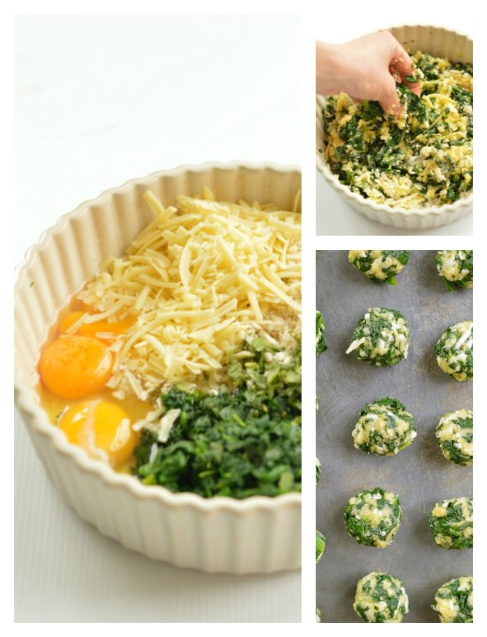 Spinach Balls steps