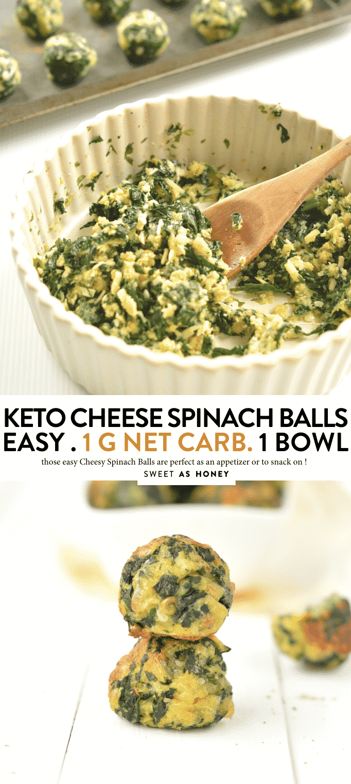 KETO SPINACH BALLS 1 g net carb per serve easy, healthy, gluten free #keto #spinach #spinachballs #glutenfree #appetizers #lowcarb #cheesy #NOCARBS #snack #ketosnack #ketoappetizers #thanksgiving #christmas