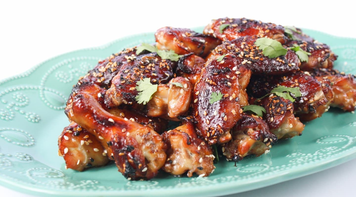 sticky ginger terriyaki chicken nibbles