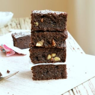 Sugar free brownie recipe for diabetic with coconut flour. 1.4 net carb per square. Made with coconut flour, stevia (swerve) , gluten free and easy.