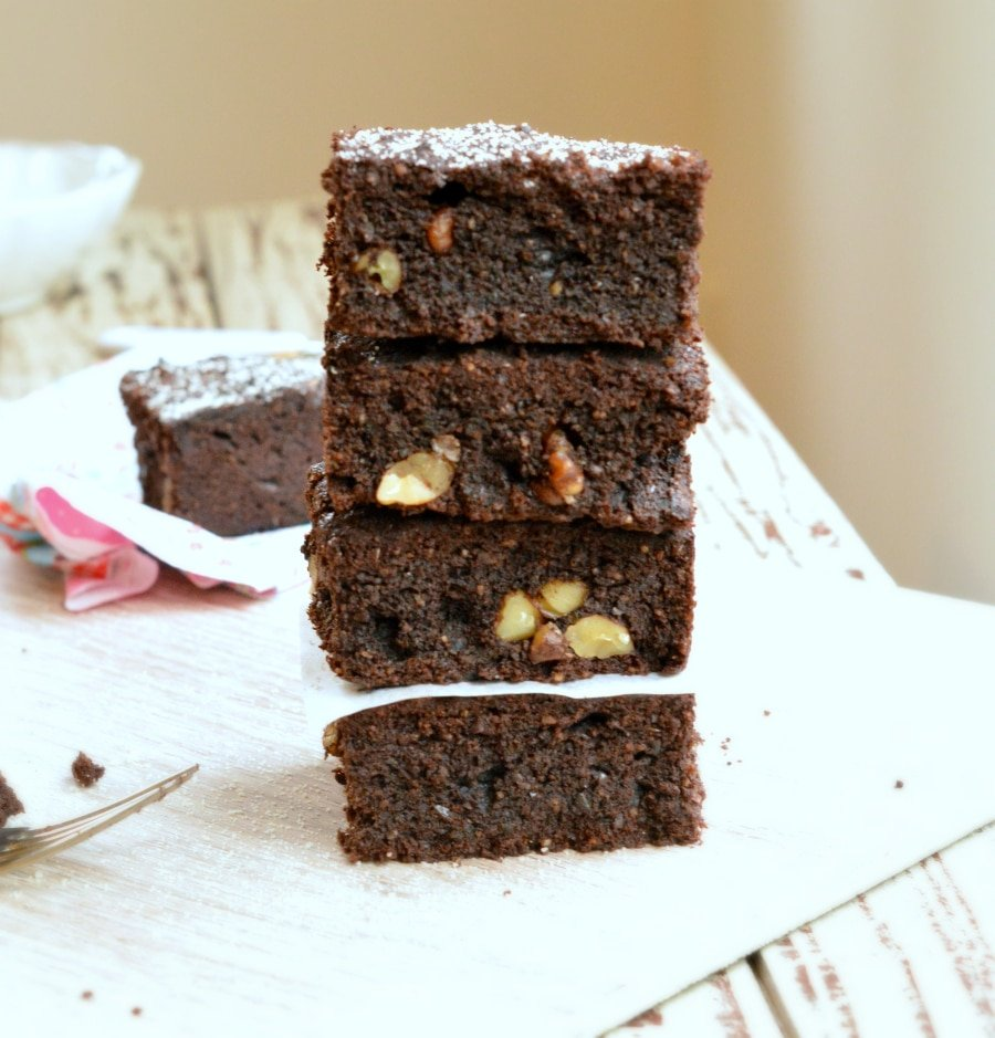 Sugar free Brownies Coconut flour Sweetashoney