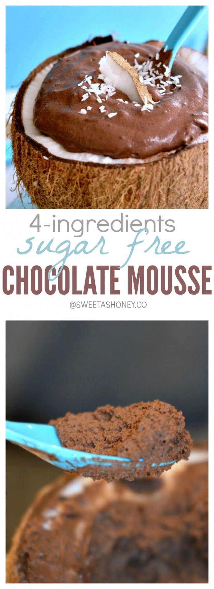 Sugar free chocolate mousse - Sweetashoney