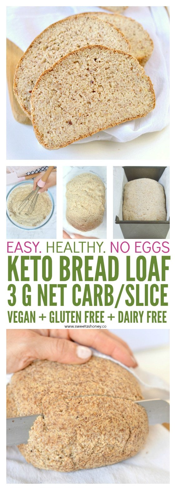 THE BEST KETO BREAD LOAF NO EGGS
