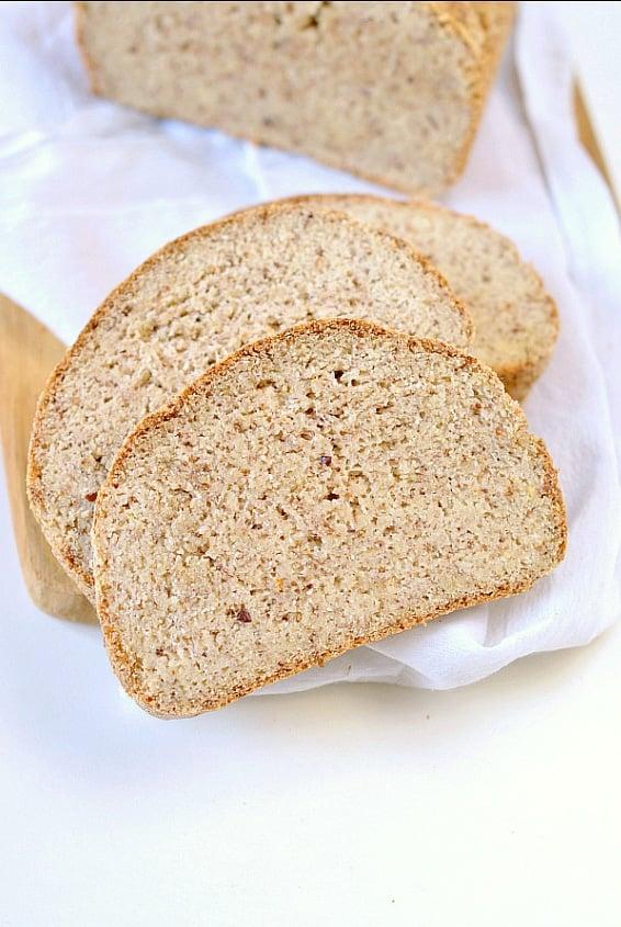 Eggless Vegan Keto Bread Loaf With Almond Flour Sweetashoney
