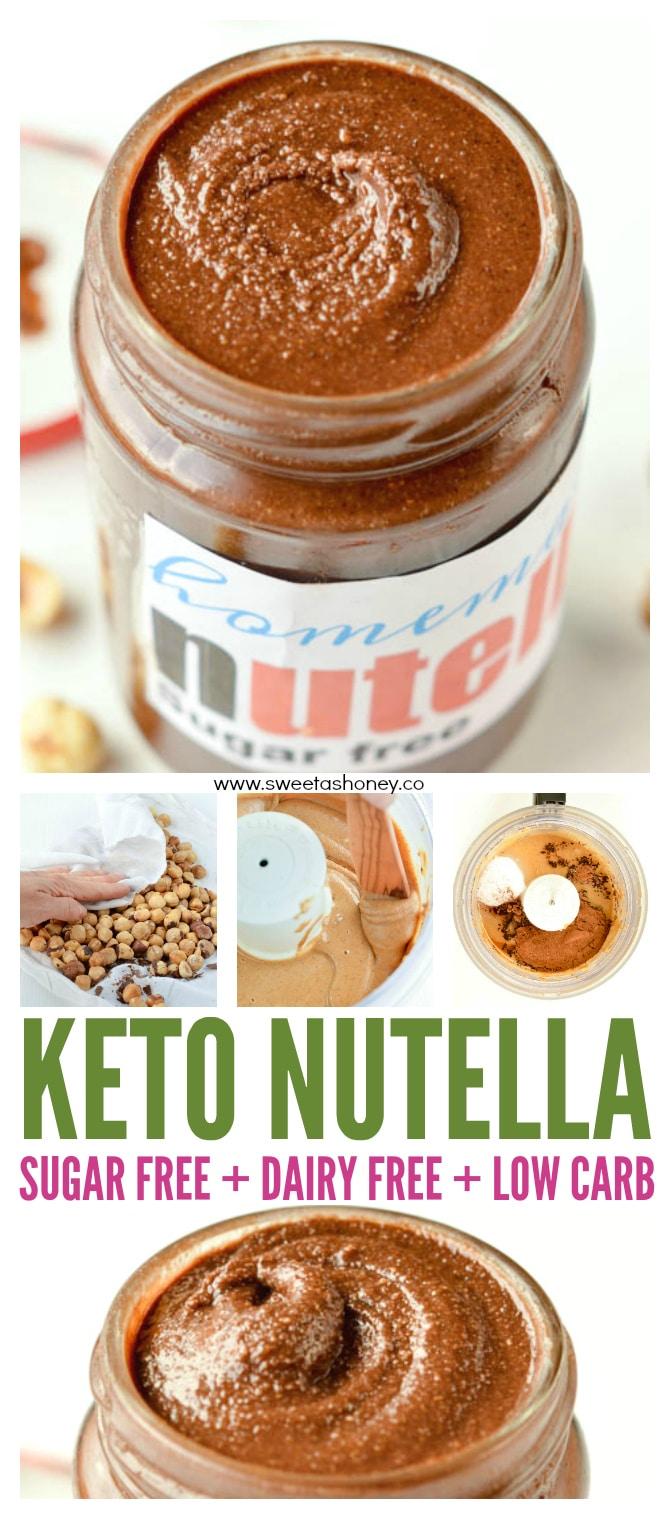 THE BEST KETO NUTELLA SUGAR FREE