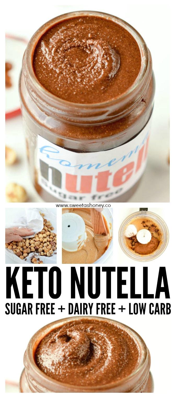 Sugar Free Nutella Recipe Keto Low Carb Sweetashoney