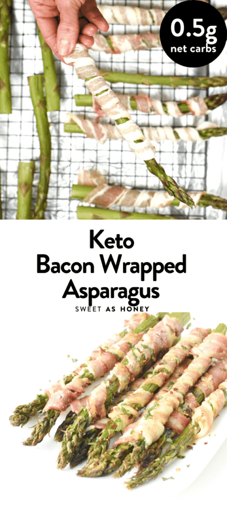 Keto Bacon wrapped asparagus in the oven