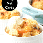 keto peach cobbler recipe with canned peaches