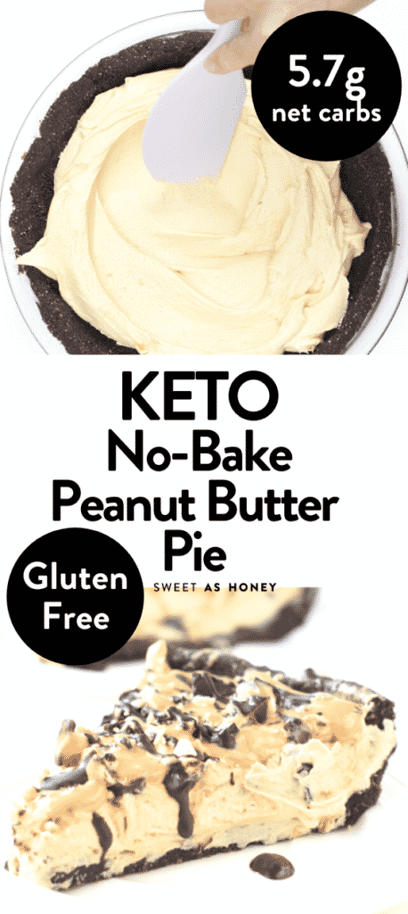 The BEST Keto No-Bake Peanut Butter Pie