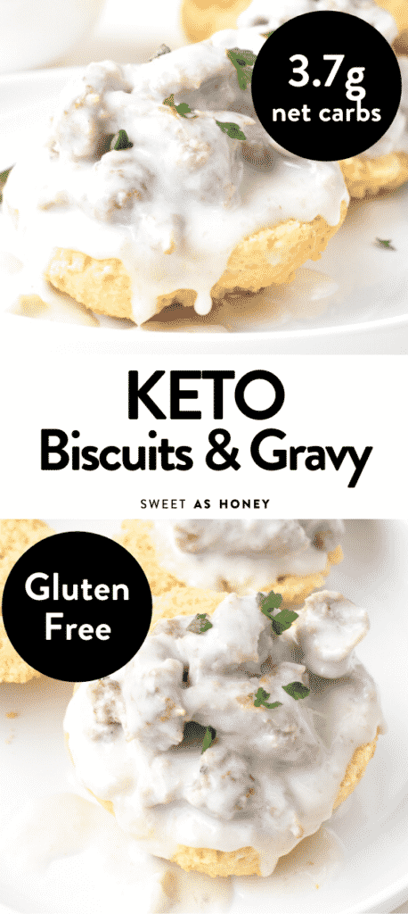 Keto low carb Biscuit recipe and gravy