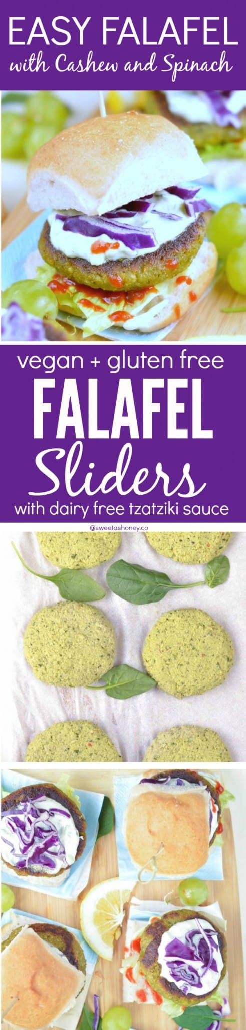 Vegan Falafel Sliders with Cashew and Spinach