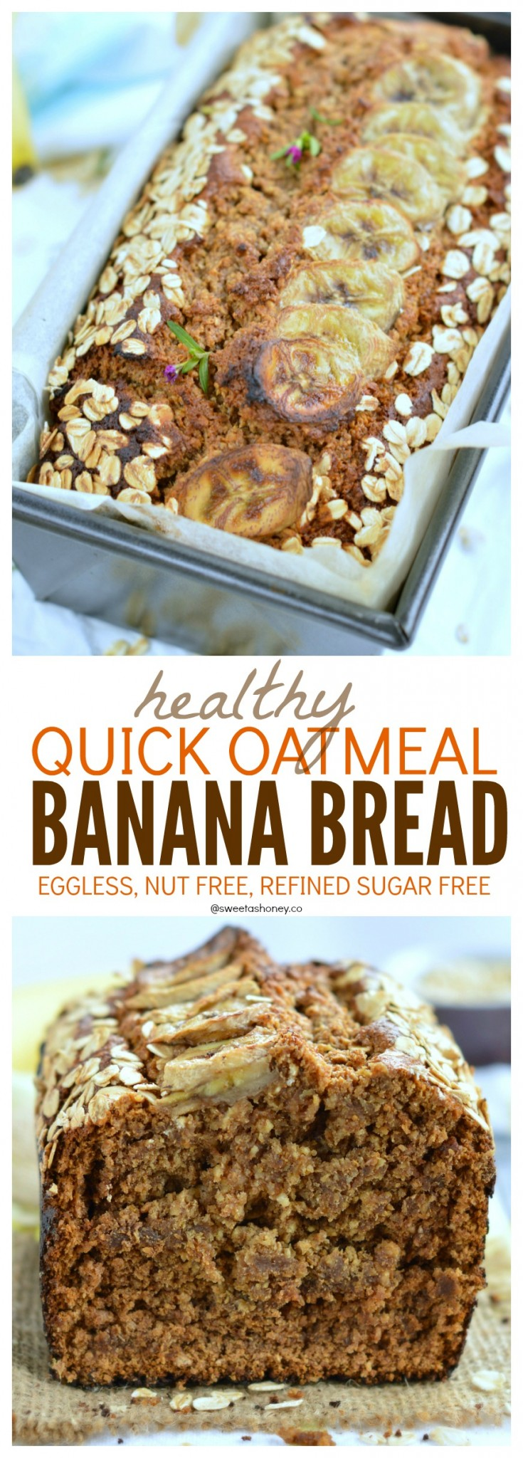 Oatmeal banana bread eggless banana bread sweetashoney oatmeal banana bread vegan banana bread forumfinder Image collections