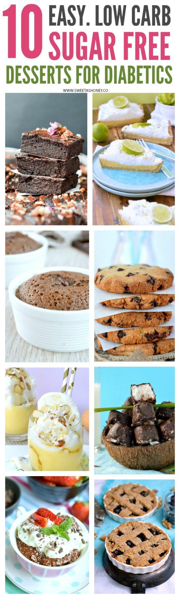 10 Sugar Free Desserts for diabetics Sweetashoney
