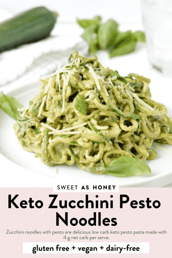 Keto Zucchini Pesto Noodles