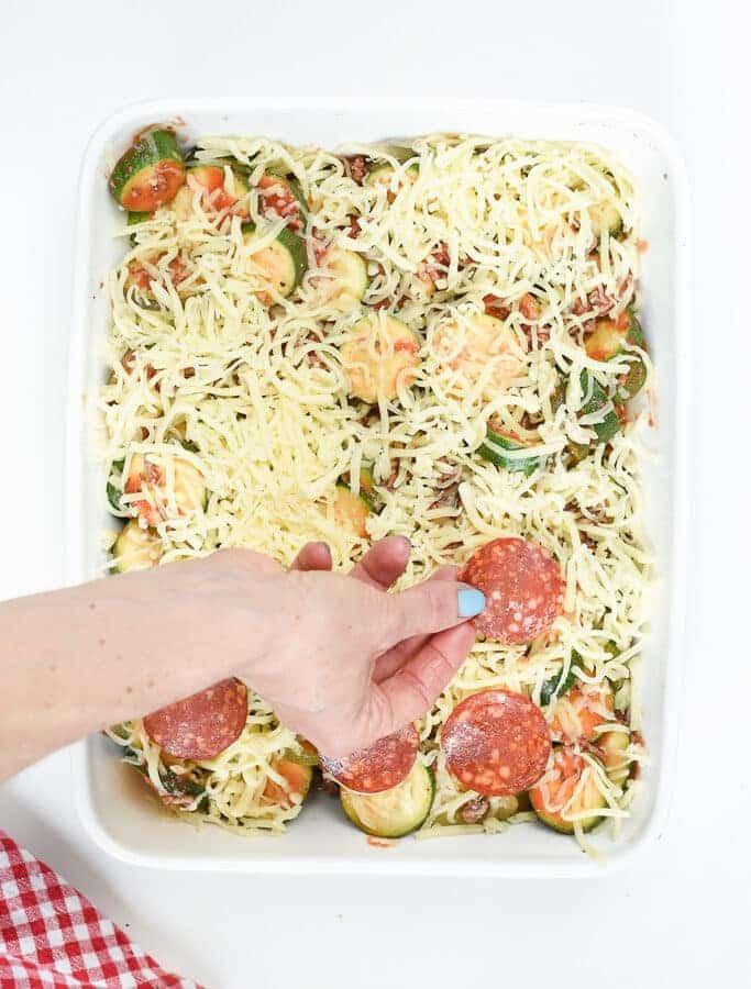 Zucchini casserole toppings