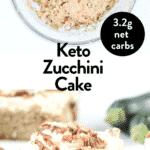 Zucchini keto cake