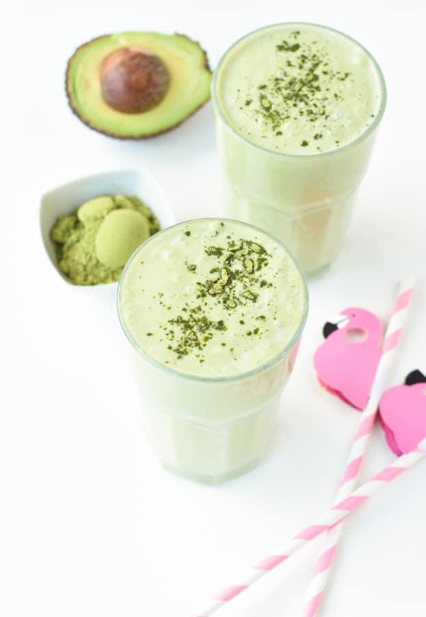 avocado Matcha smoothie