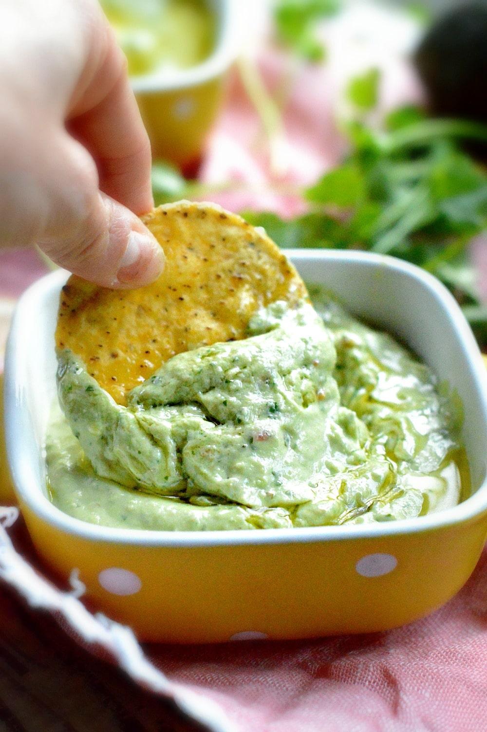 Simple Avocado Dip Sweetashoney