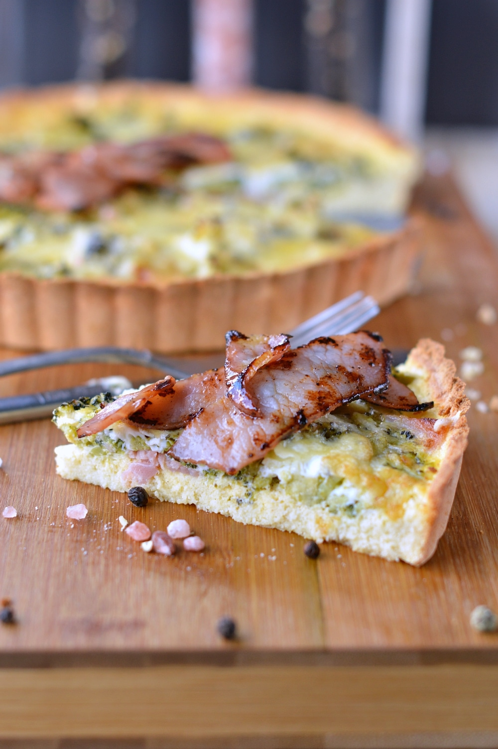 bacon broccoli coconut quiche