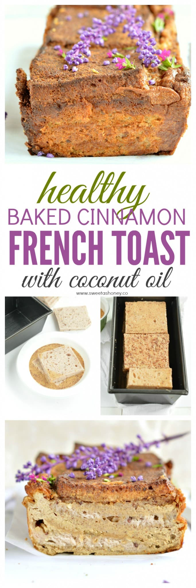 Baked cinnamon french toast loaf