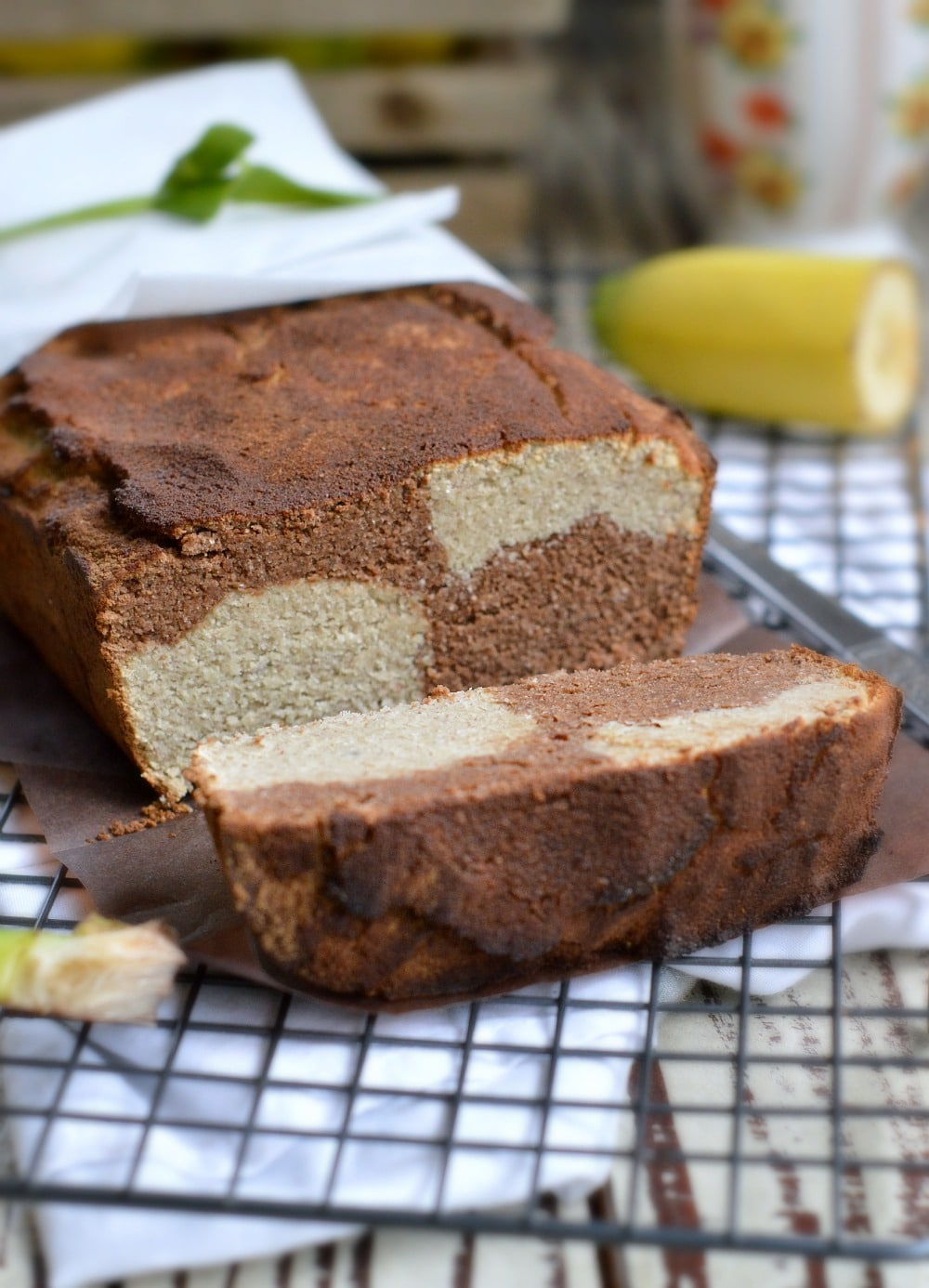 Marble Cocoa Banana Bread Sweetashoney