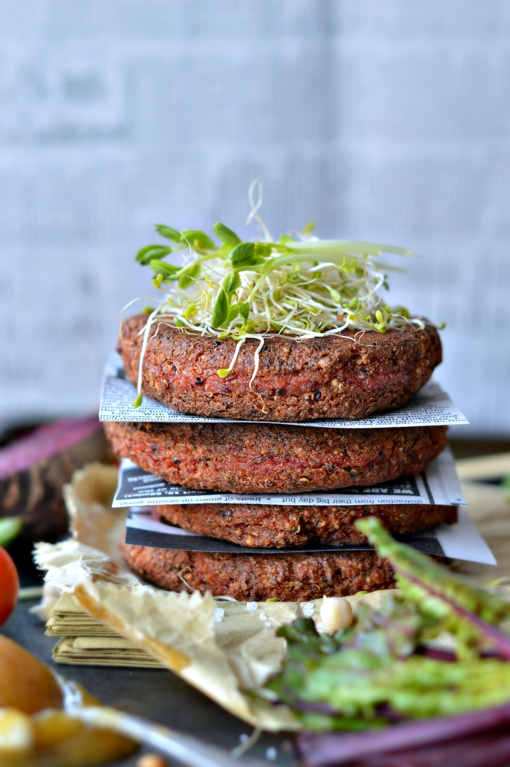 Supergrains Beetroot and Tofu Burger Patties