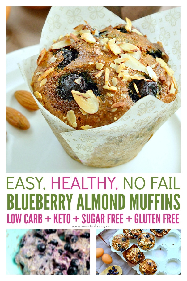 blueberry almond muffins keto
