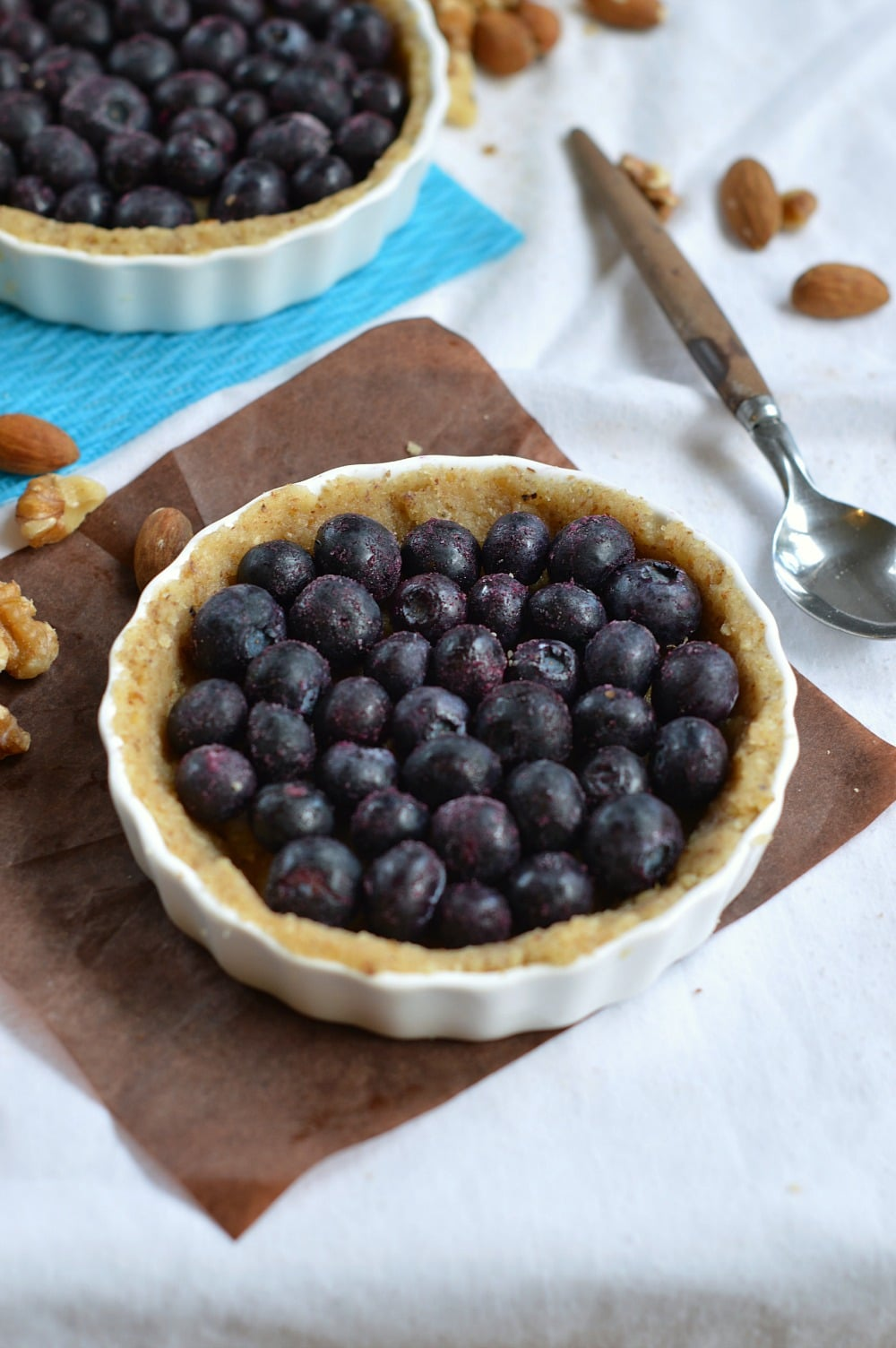 blueberry tart a sugar free & gluten free recipe