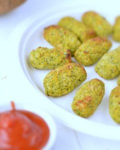 broccoli tots with coconut flour